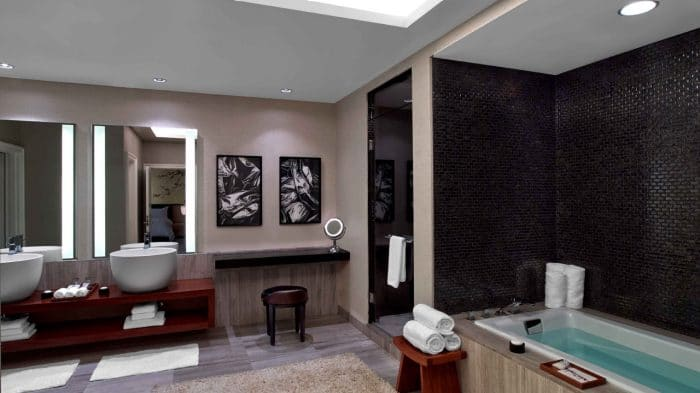 Nobu Hotel Las Vegas Hakone Suite Bathroom