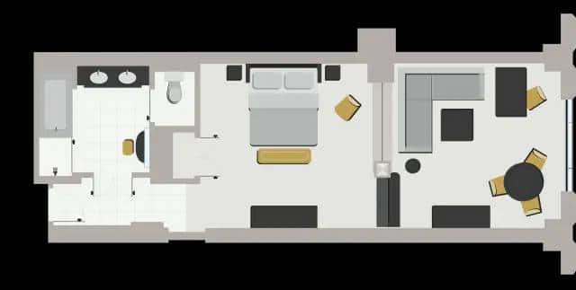 Palazzo Las Vegas Luxury King Suite Floor Plan