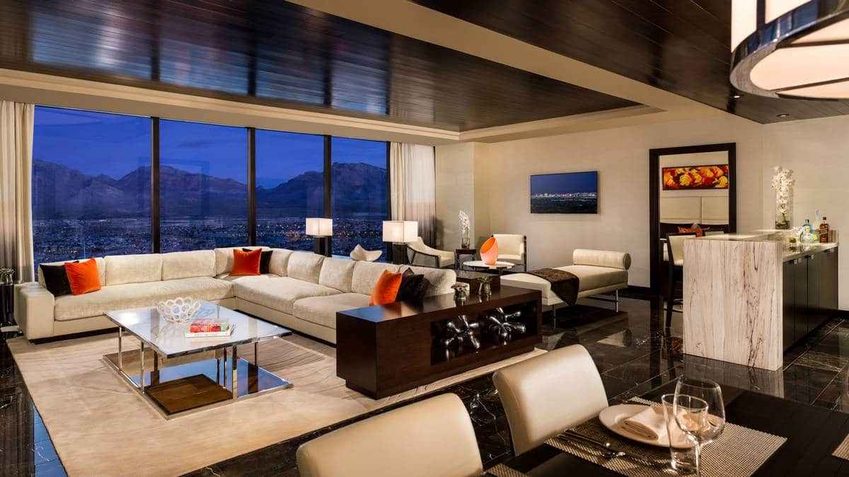 Red Rock Hotel Casino Las Vegas One Bedroom Luxury Suite Living Room