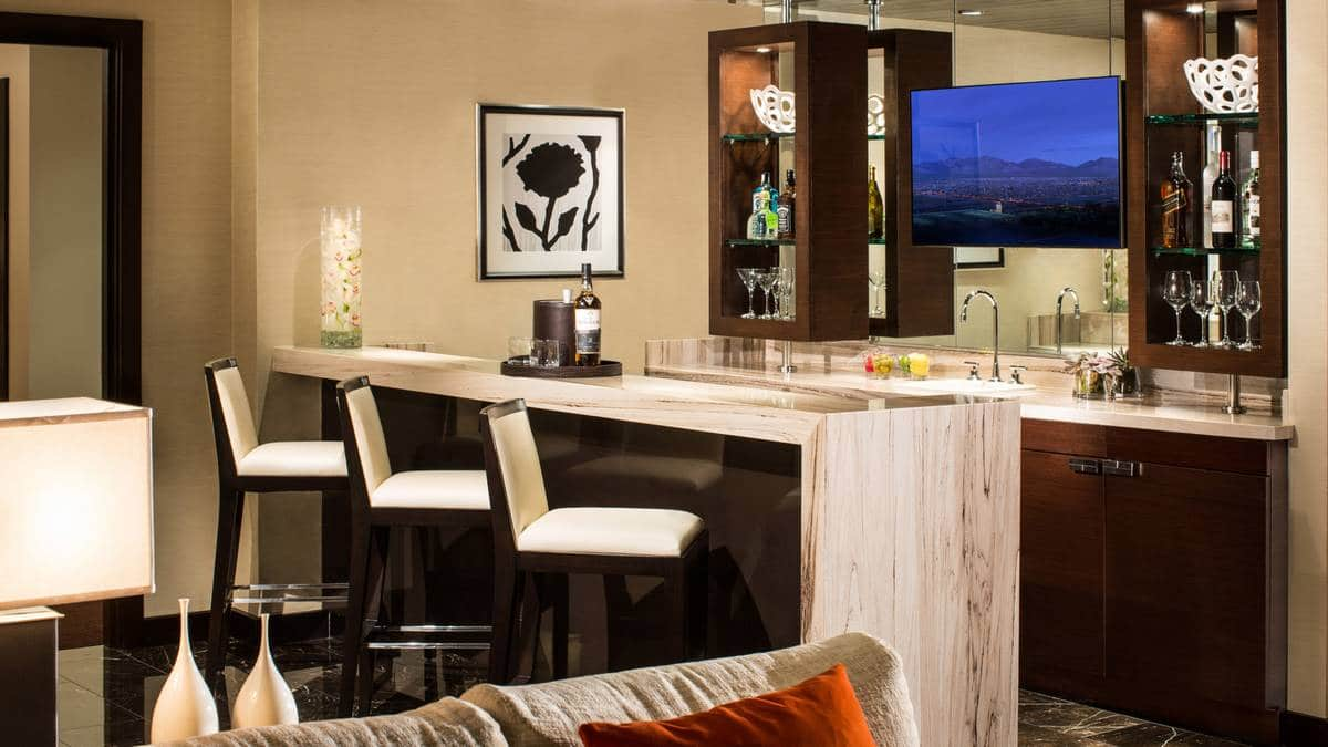 Red Rock Hotel Casino Las Vegas One Bedroom Luxury Suite Wet Bar