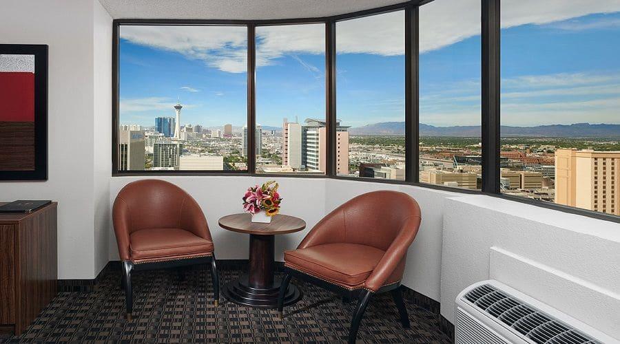 The D Las Vegas Corner King Premium Room View