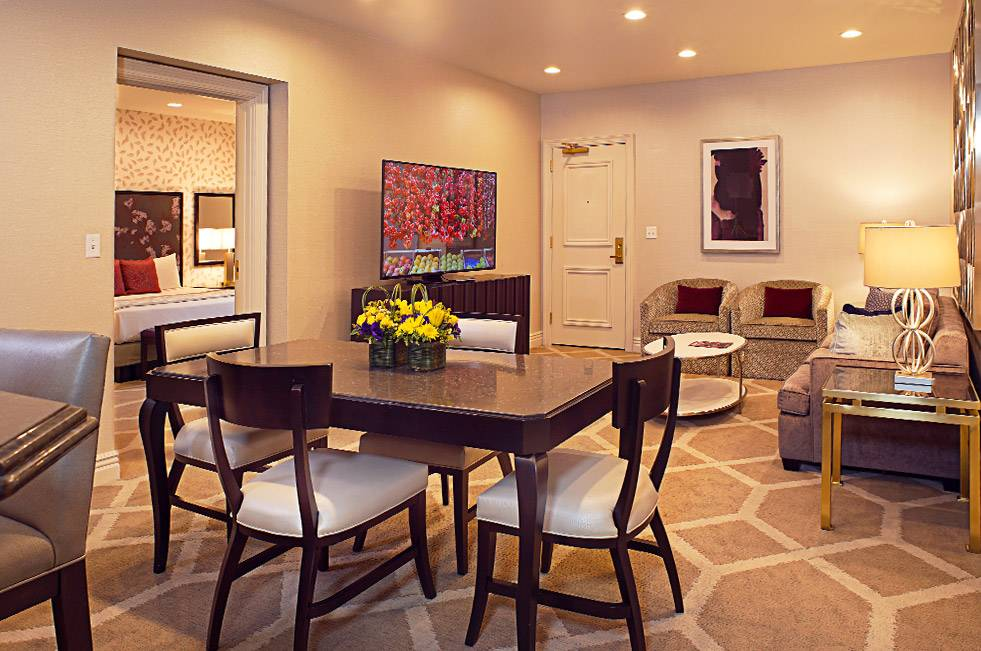 The Orleans Las Vegas Executive Suite One Bedroom Dining Area