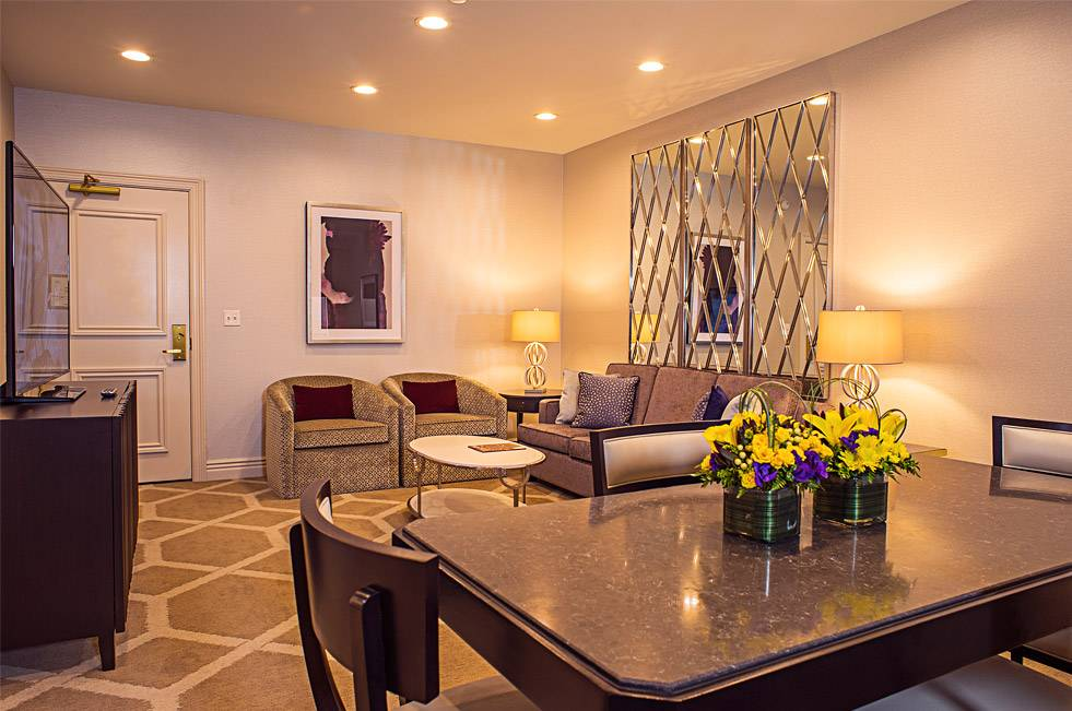 The Orleans Las Vegas Executive Suite One Bedroom Living Room