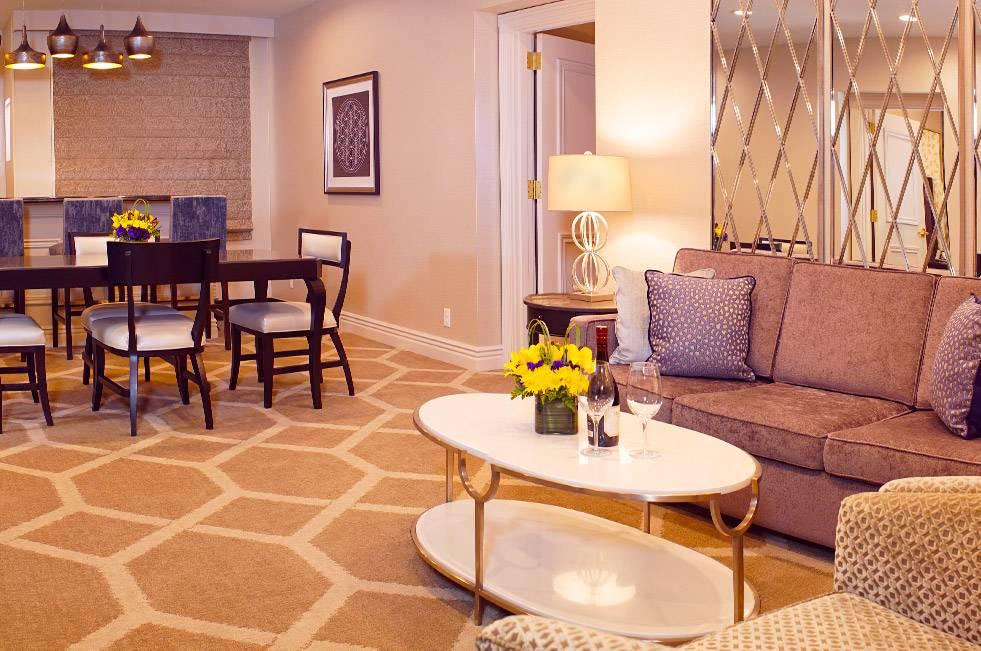The Orleans Las Vegas Louisiana Suite Two Bedrooms Living Room