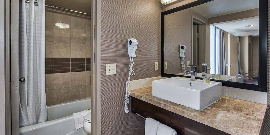 The Plaza Las Vegas Mini Suite Bathroom