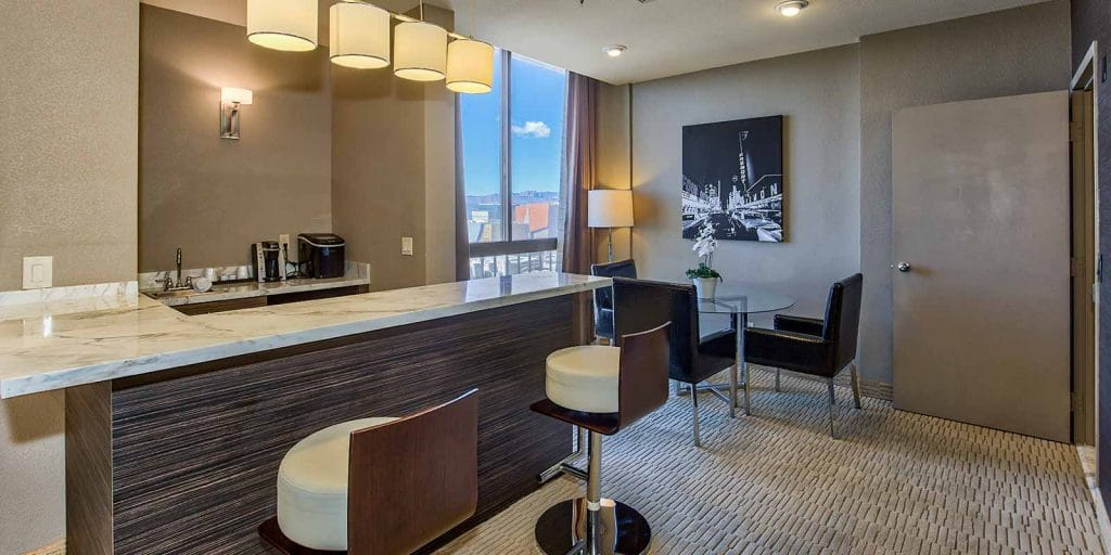 The Plaza Las Vegas Penthouse Suite Wet Bar