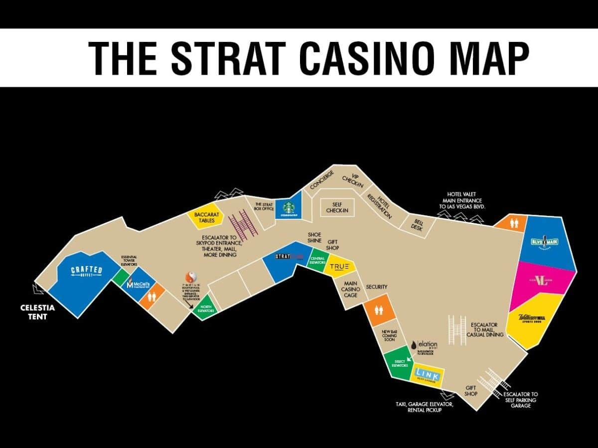 The Strat Las Vegas Property Map