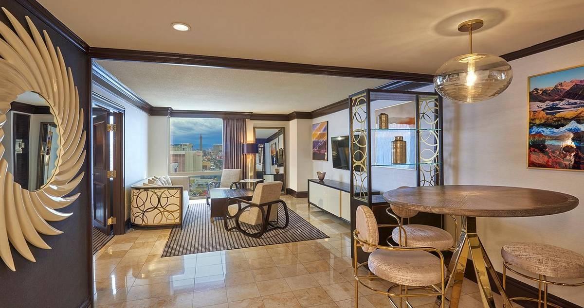 Treasure Island Las Vegas Luxury Suite Living Room