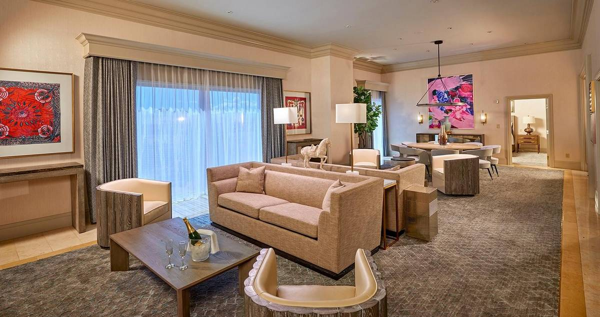 Treasure Island Las Vegas Penthouse Suite Living Room