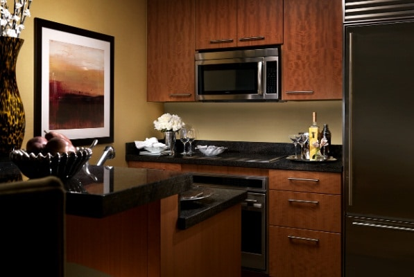 Trump Las Vegas Deluxe One Bedroom Suite Kitchen