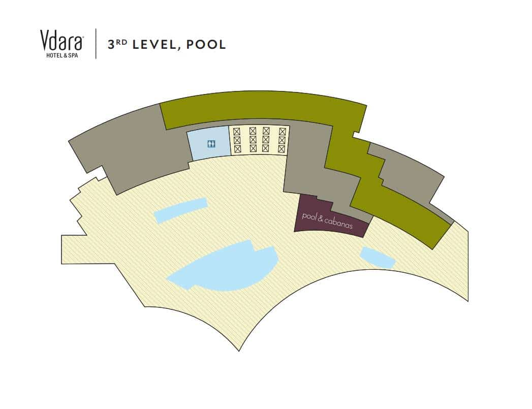 Vdara Las Vegas Property Map 3rd Level