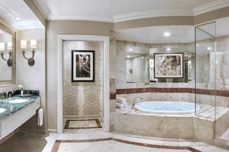 Venetian Las Vegas Grand One Bedroom Suite Bathroom