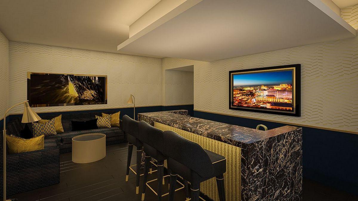 Circa Las Vegas Bunk Pad Living Room