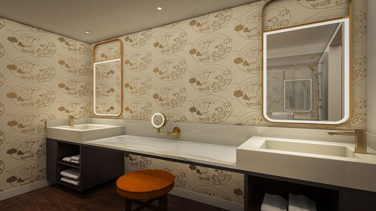 Circa Las Vegas Corner Studio Bathroom
