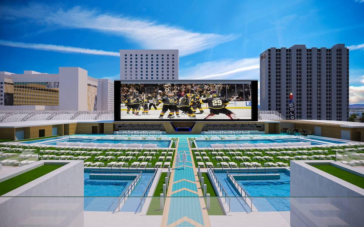 Circa Las Vegas Pool Amphitheater