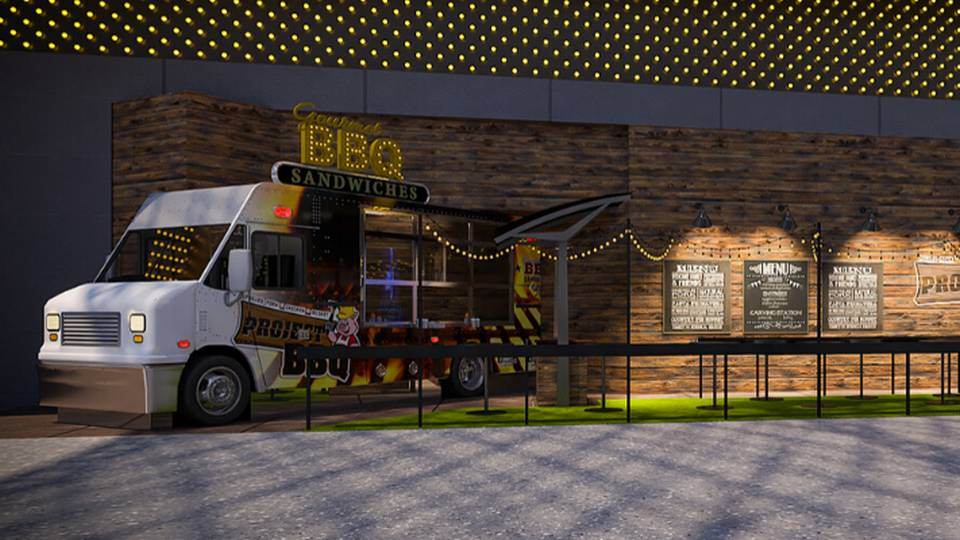 Golden Gate Las Vegas Project BBQ Food Truck