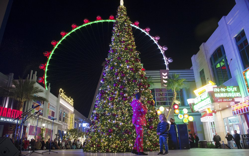 The Linq Promenade Las Vegas Christmas Tree