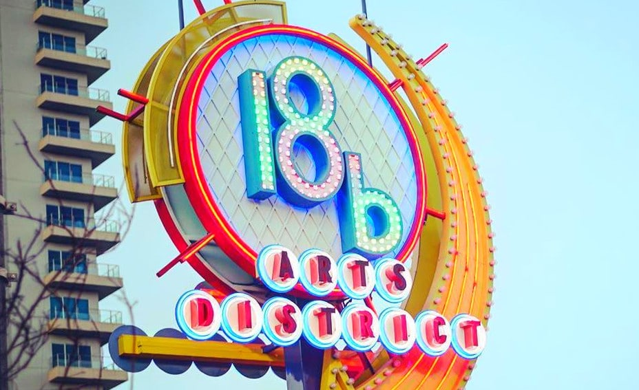 Las Vegas 18b Art District Sign