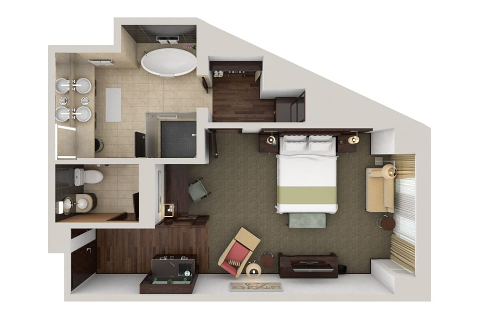 Waldorf Astoria Las Vegas Junior Suite Floorplan