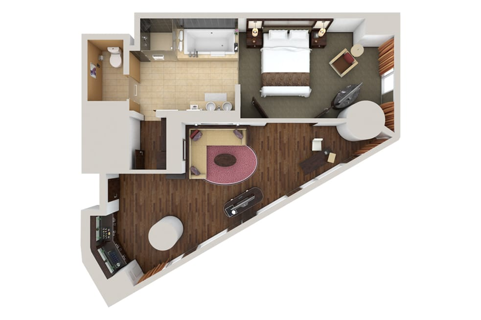 Waldorf Astoria Las Vegas Panorama One Bedroom Suite Floorplan