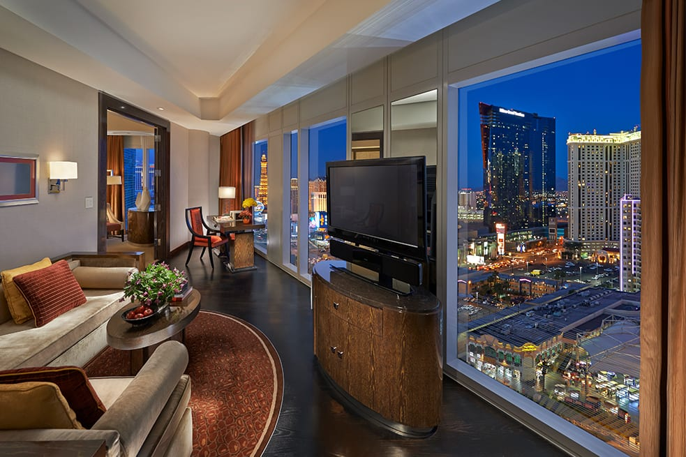 Waldorf Astoria Las Vegas Panorama One Bedroom Suite Living Room