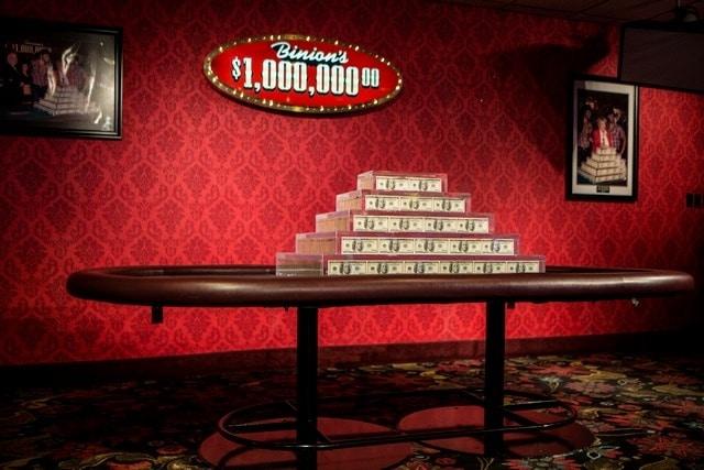 Binions Las Vegas 1 Million Dollars Display