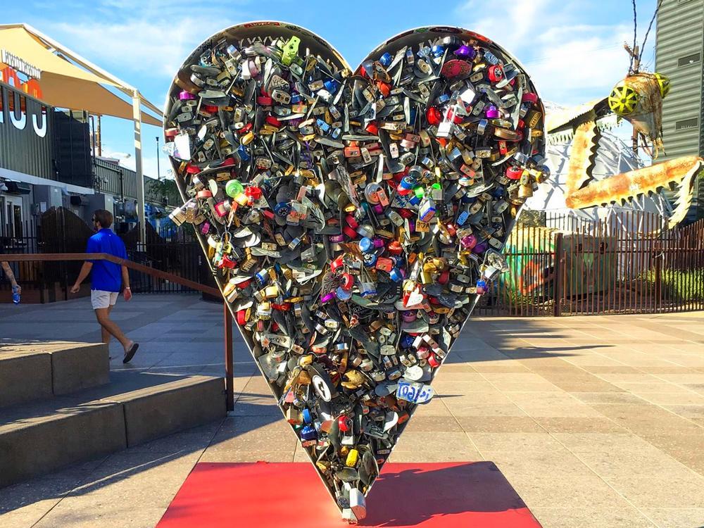 Container Park Las Vegas Love Lock