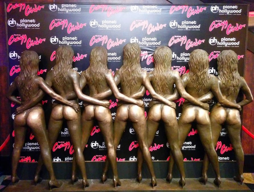 Crazy Girls Statue at Planet Hollywood Las Vegas