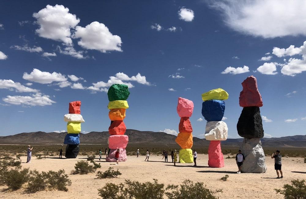 Ugo Rondinone's Seven Magic Mountains Art Installation Las Vegas