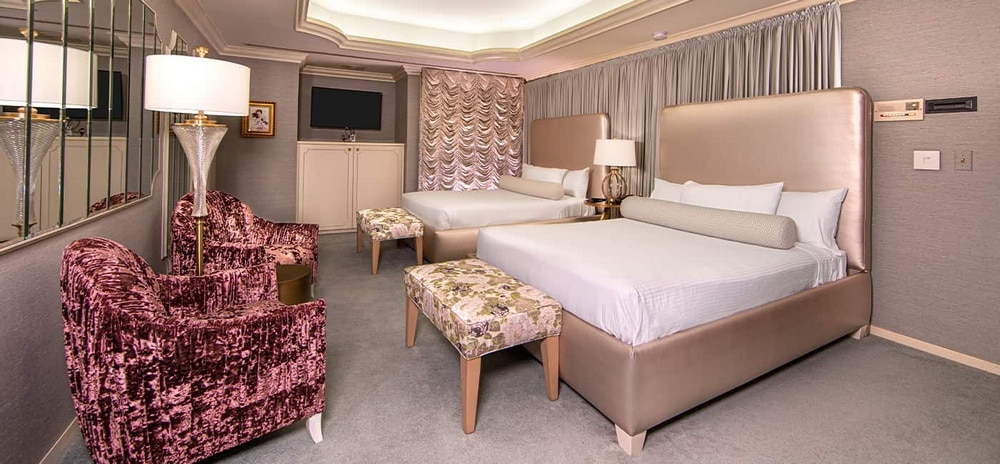 EL Cortez Las Vegas Jackie Gaughan Suite Bedroom