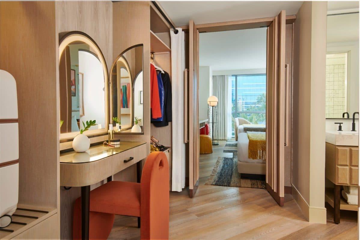 Virgin Hotels Las Vegas Opal Chamber Double Queen Bathroom