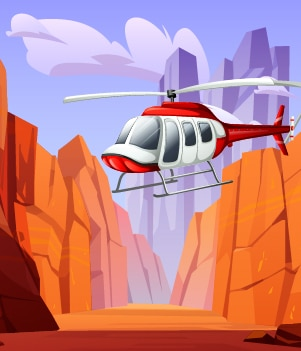 4.Helicopter over the Grand Canyon